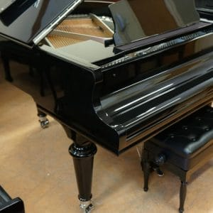 black gerhard heintzman grand piano