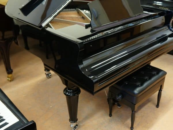 black gerhard heintzman grand piano