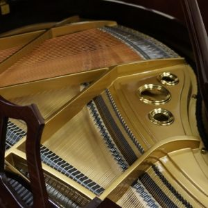 gerhard heintzman brown grand piano toronto